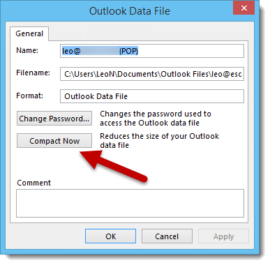 Outlook Compact Now