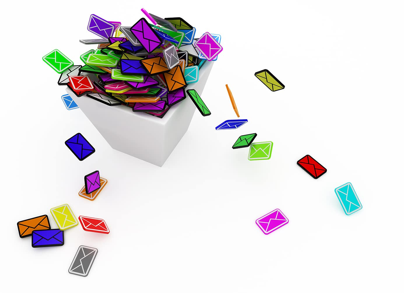 Overflowing Email Bin