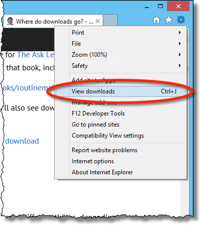 View Downloads Option