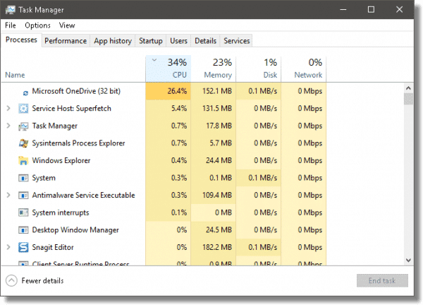 Task Manager - Sorted