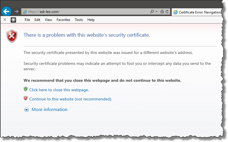 IE Security Error
