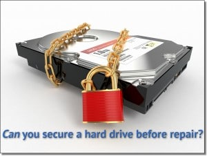 Can you secure a hard drive?