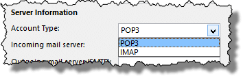 POP versus IMAP selection