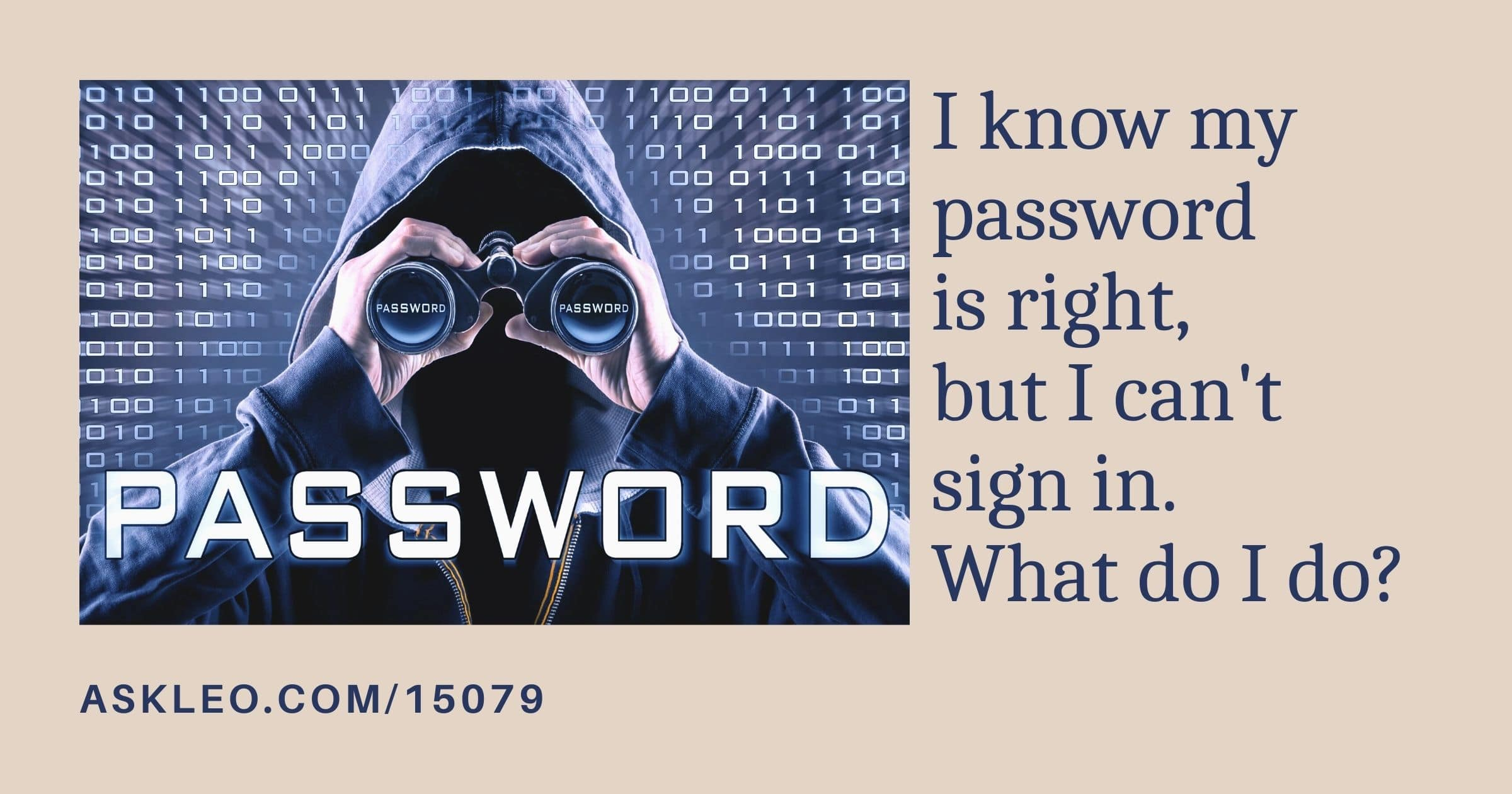 I Know My Password is Right But I Can't Sign In. What Do I Do?