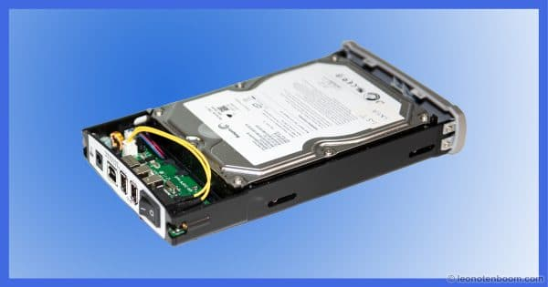 3.5 inch drive in an external enclosure tray.