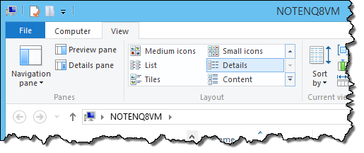 File Explorer View Details
