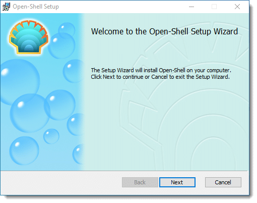 Open Shell Setup Wizard