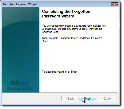 Creating a Password Reset Disk - Final