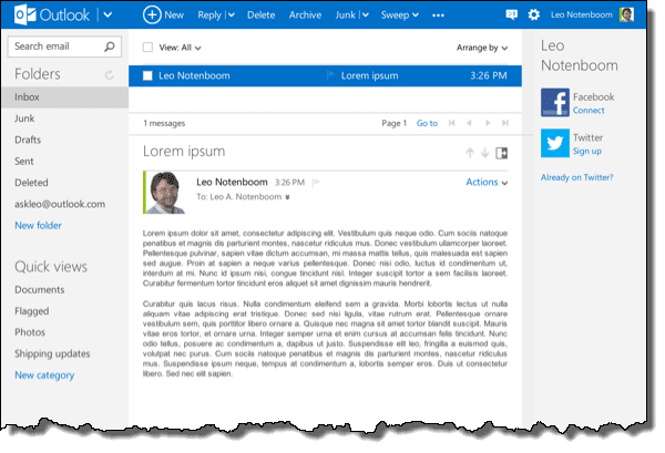 Outlook.com Email Message