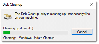 Disk Cleanup in progress (again)