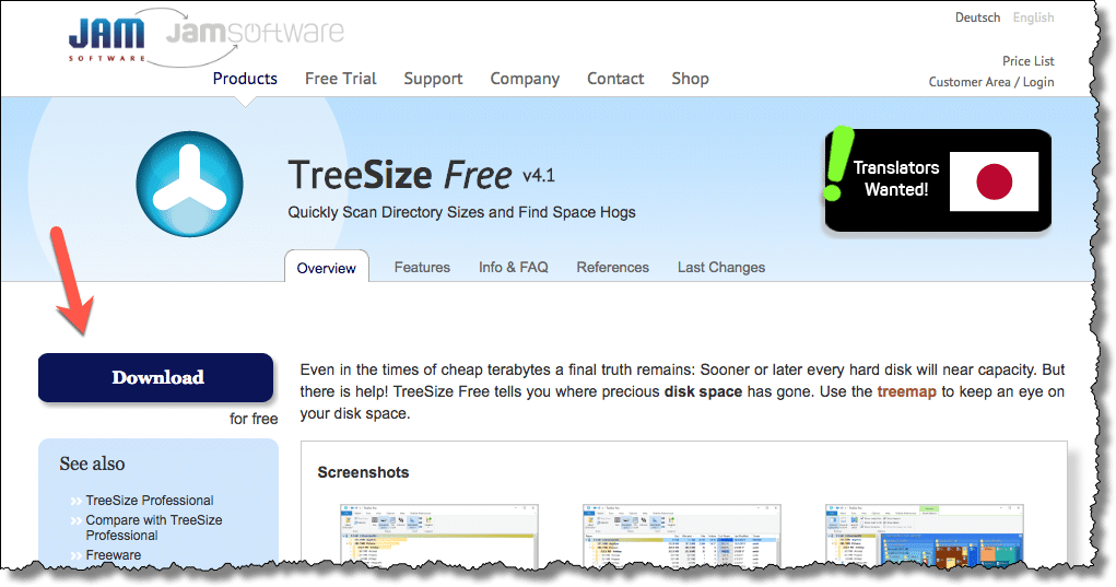 jam software treesize review