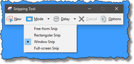 Snipping Tool Modes