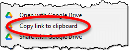 Copy link to clipboard in Google Drive
