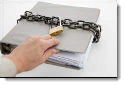 Peeking at a locked document