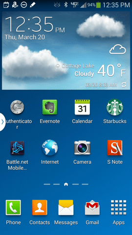 Galaxy Note 3 Homescreen