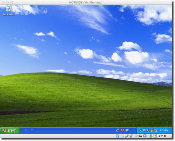 XP in a VM (on a Mac)