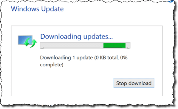 Windows Update - Downloading Windows 8.1 Update