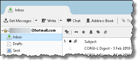 Hotmail in Thunderbird