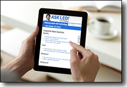 Ask Leo! on a tablet