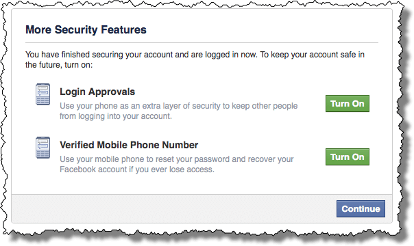 Facebook More Security
