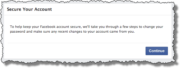 Facebook Secure Your Account