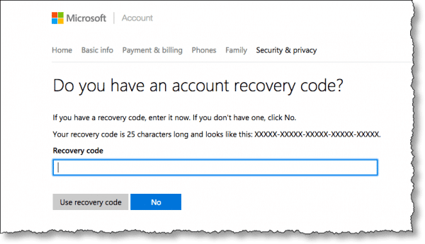 Use a Recovery Code