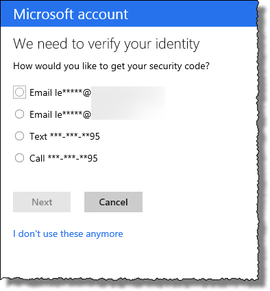 Outlook.com recovery method
