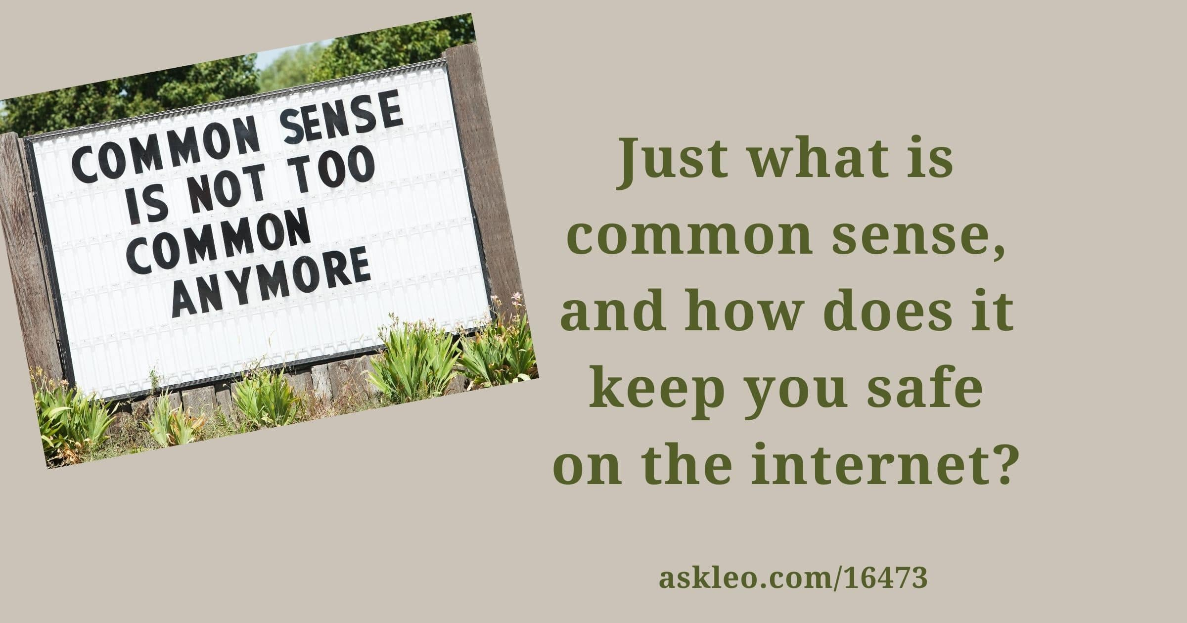 Just What Is Common Sense?