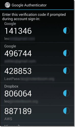 Google Authenticator