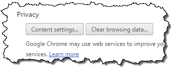 Chrome Privacy Options