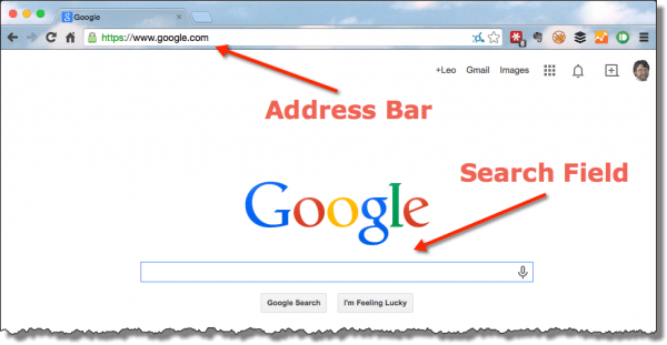 Address Bar versus Search Field