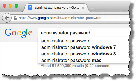 Search for Administrator Password
