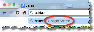 Search in Address Bar