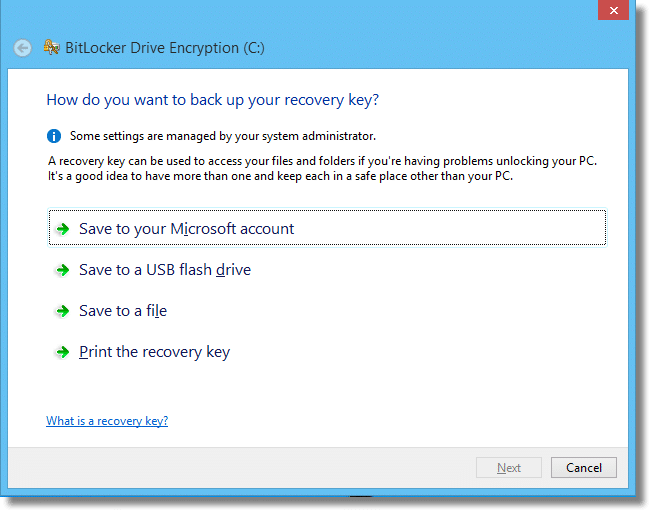 BitLocker Recovery Key