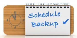 Schedule Automatic Backups