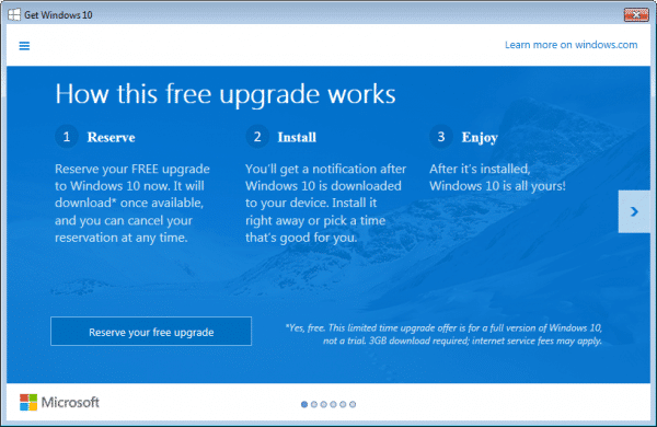 Windows 10 Upgrade Offer