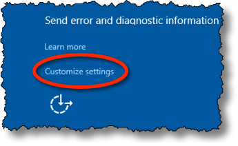 Customize Settings