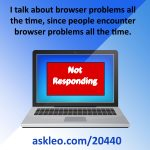 Dealing with browser problems