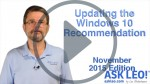 Updating the Windows 10 Recommendation