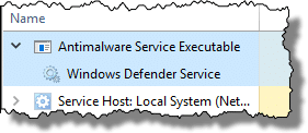 Windows Defender information