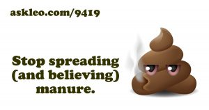Stop Spreading Manure