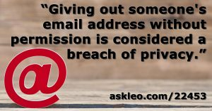 Email Address Privacy