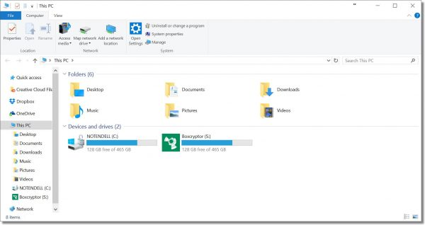 File Explorer open to This PC