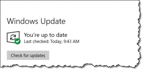 Windows 10 -- All up to date