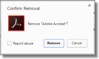 Confirm Extension Removal