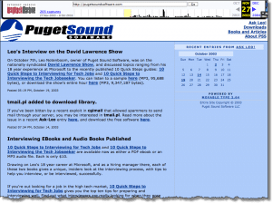 Puget Sound Software, in 2003 (Click for larger image.)