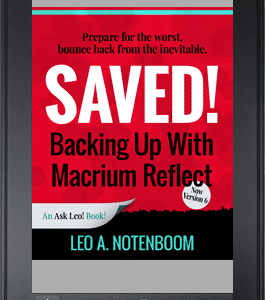 Saved! Backing Up With Macrium Reflect
