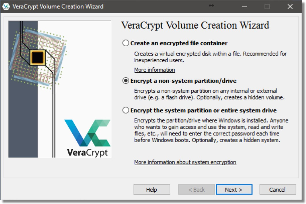 Volume Creation Wizard