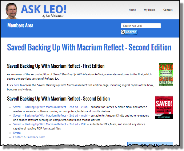 Saved! Backing Up With Macrium Reflect - Members Area