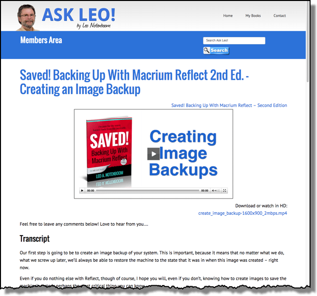 Saved! Backing Up with Macrium Reflect - Video